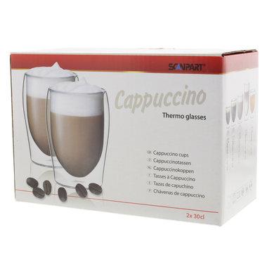 cappuccino thermo glazen 2x30cl