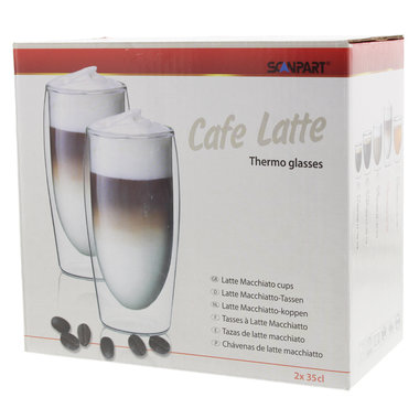 cafe latte thermo glazen 2x35cl