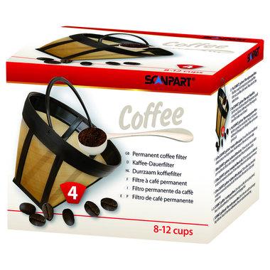 koffiefilter goldtone grootte 4