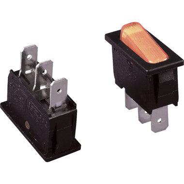 schakelaar aan/uit 16A 1-polig zwart-oranje