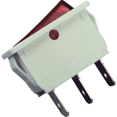 schakelaar aan/uit 16A 1-polig wit-rood