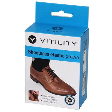 schoenveters elastisch bruin
