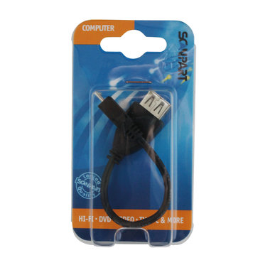 OTG kabel on-the-go micro USB(M) - USB(M) 15cm