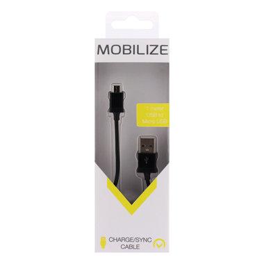 laad+datakabel micro USB 1,om zwart