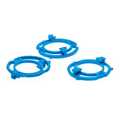 scheerkophouder blauw 3 stuks