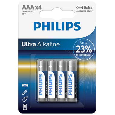 batterij alkaline ultra AAA 4 stuks