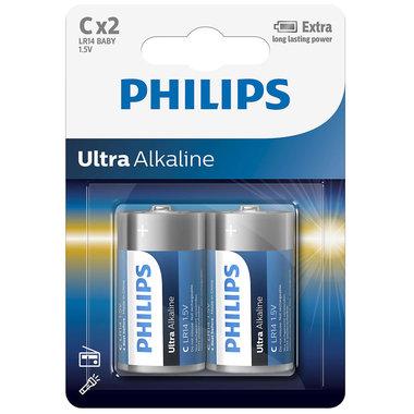 batterij alkaline ultra C 2 stuks