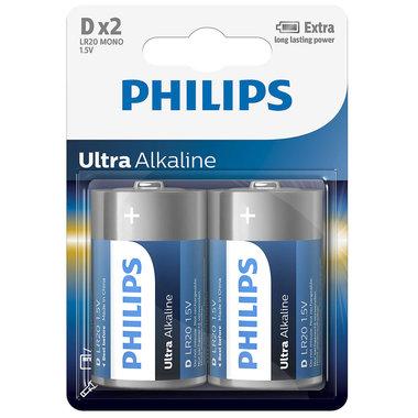 batterij alkaline ultra D 2 stuks