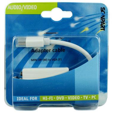 adapter kabel mini DisplayPort (M) - VGA (F) 20cm