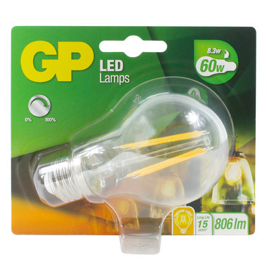 LED lamp E27 7W 806Lm classic filament dimbaar