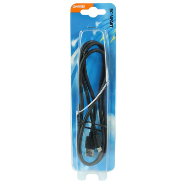 aansluitkabel USB 3.1 USB-A(M) - USB-C(M) 1m zwart