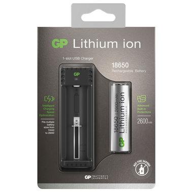 batterijlader +18650 Li-ion 2600mAh
