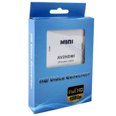 mini AV audio signaal naar HDMI omvormer