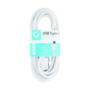 laad+data kabel USB-C wit 2m