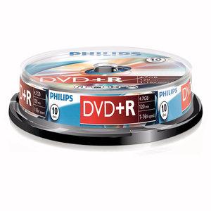 DVD+R 4,7GB 16xspeed spindle 10 stuks
