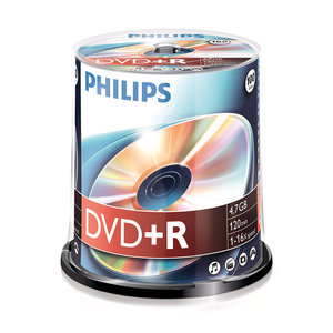 DVD+R 4,7GB 16xspeed spindle 100 stuks
