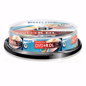 DVD+R Double layer 8,5GB 8xspeed spindle 10 stuks