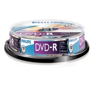 DVD-R 4,7GB 16xspeed spindle 10 stuks