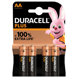 batterij alkaline plus 100% AA 4st.