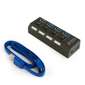 externe 4 poorts USB 3.0 HUB + voeding 3A