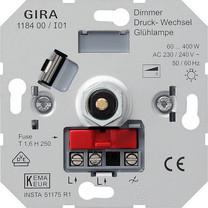 Gira inbouw druk/draai dimmer gloei- / 230v halogeenlamp 60-400w