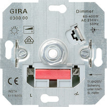 Gira inbouw draai dimmer gloei- / halogeenlamp 230v 60 - 400W